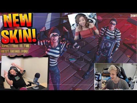 Fortnite Streamers React To  NEW  Robbers Skin! ft  Ninja, TSM Hamlinz , POKIMANE
