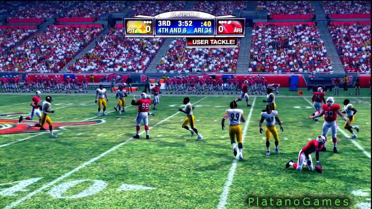 555099fc NFL 2008 Super Bowl XLIII - Pittsburgh Steelers vs Arizona Cardinals - 1st  Qrt - Madden '09 - HD
