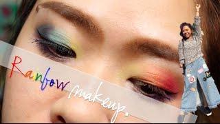 Rainbow makeup 彩虹眼粧| FunWithOprah