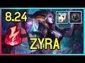 8.24 ELECTROCUTE ZYRA SUPPORT - Diamond - League of Legends