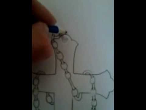 Draw Cool Cross With Beads Easy Part1