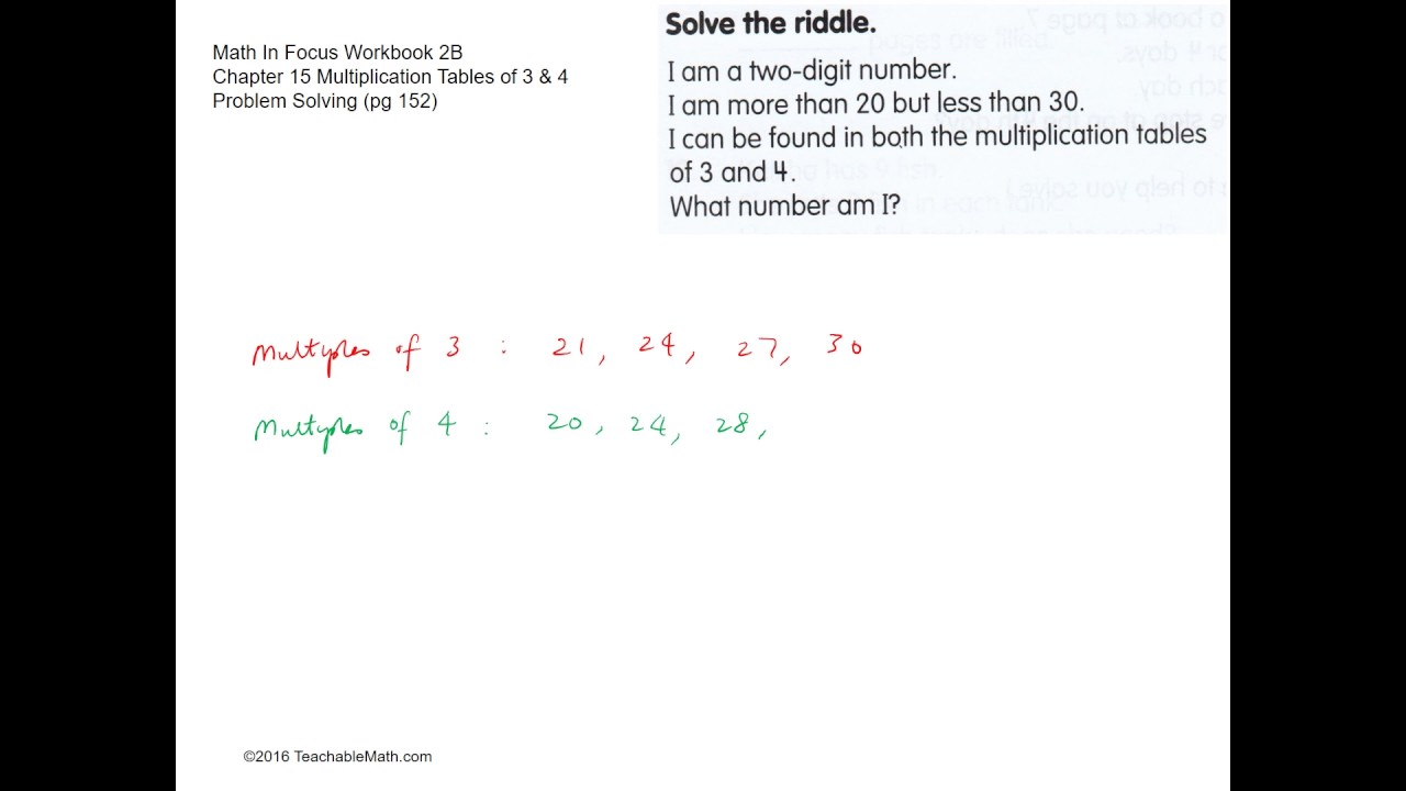 Mif workbook 2b solutions chapter 15 multiplication tables of 3 mif workbook 2b solutions chapter 15 multiplication tables of 3 4 problem solving pg 152 gamestrikefo Image collections