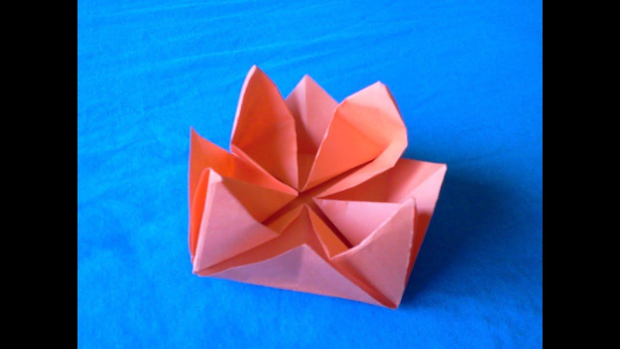 Origami Lotus Flower Papiroflexia Flor De Loto Youtube