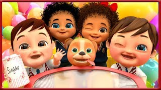 Kids eating sugar , Baby Shark , Wheels on the Bus , Happy Birthday Song - Banana Cartoon