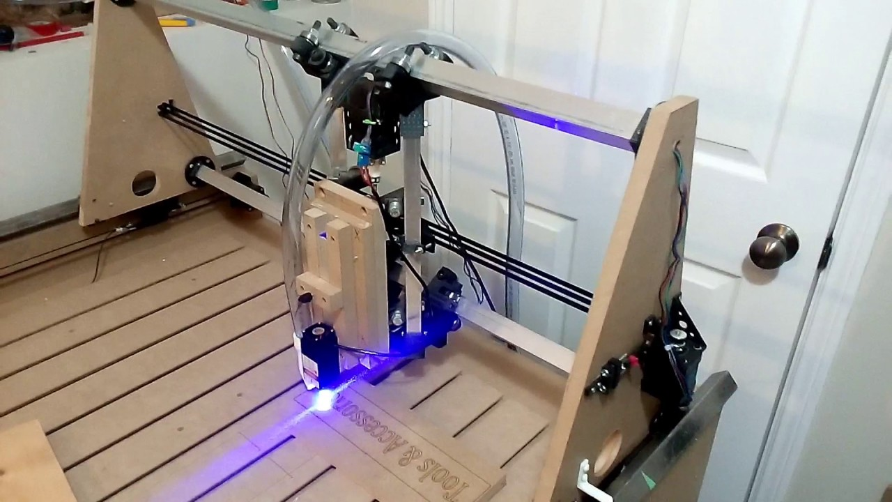 Homemade CNC table - MDF and 3D Printed