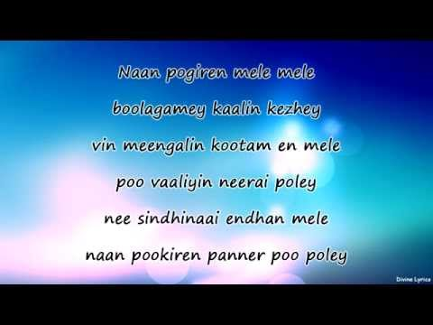 Naan Pogiren Mele Mele Lyrics - Naanayam Movie