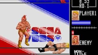 Wrestle War Gameplay HD✔ Sega Genesis Mega Drive let's play Walkthrough