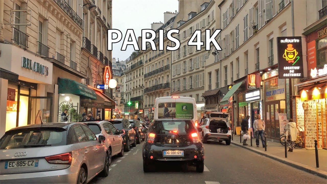 Paris Drive 4K - Sunset Drive - France