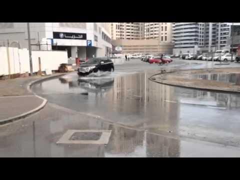 Rain in Tecom, Dubai