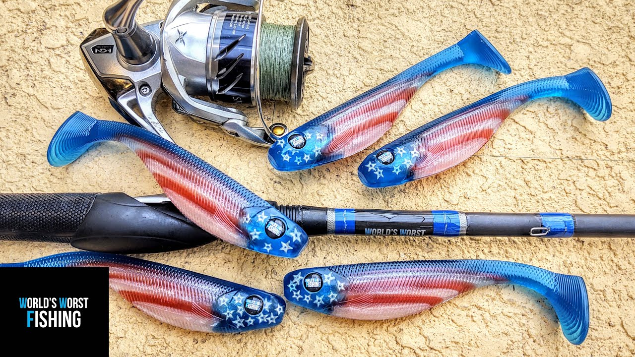 Making STAR SPANGLED Swimbaits: 4th Of July GIVEAWAY