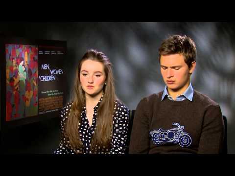 Ansel Elgort and Kaitlyn Dever  Men, Women & Children