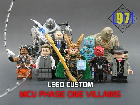 LEGO Marvel Phase 1 Villains Custom Minifigures