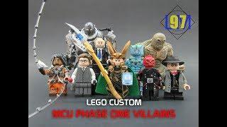 LEGO Marvel Phase 1 Villains Custom Minifigures