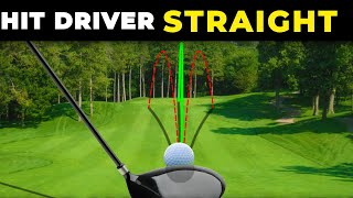 HOW TO HIT DRÏVER STRAIGHT - The driver swing is much easier when you know this