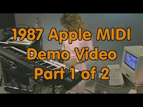 1987 Apple Computer Reseller Training Video - Apple MIDI Interface - First Half