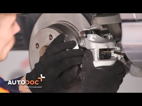 How to replace rear brake caliper MERCEDES-BENZ E W211 TUTORIAL | AUTODOC