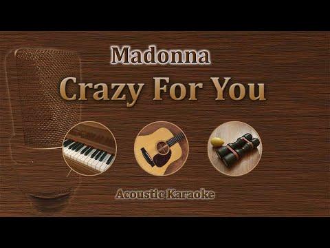 Crazy for You - Madonna (Acoustic Karaoke)
