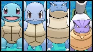 FULL SQUIRTLE EVOLUTION TEAM!