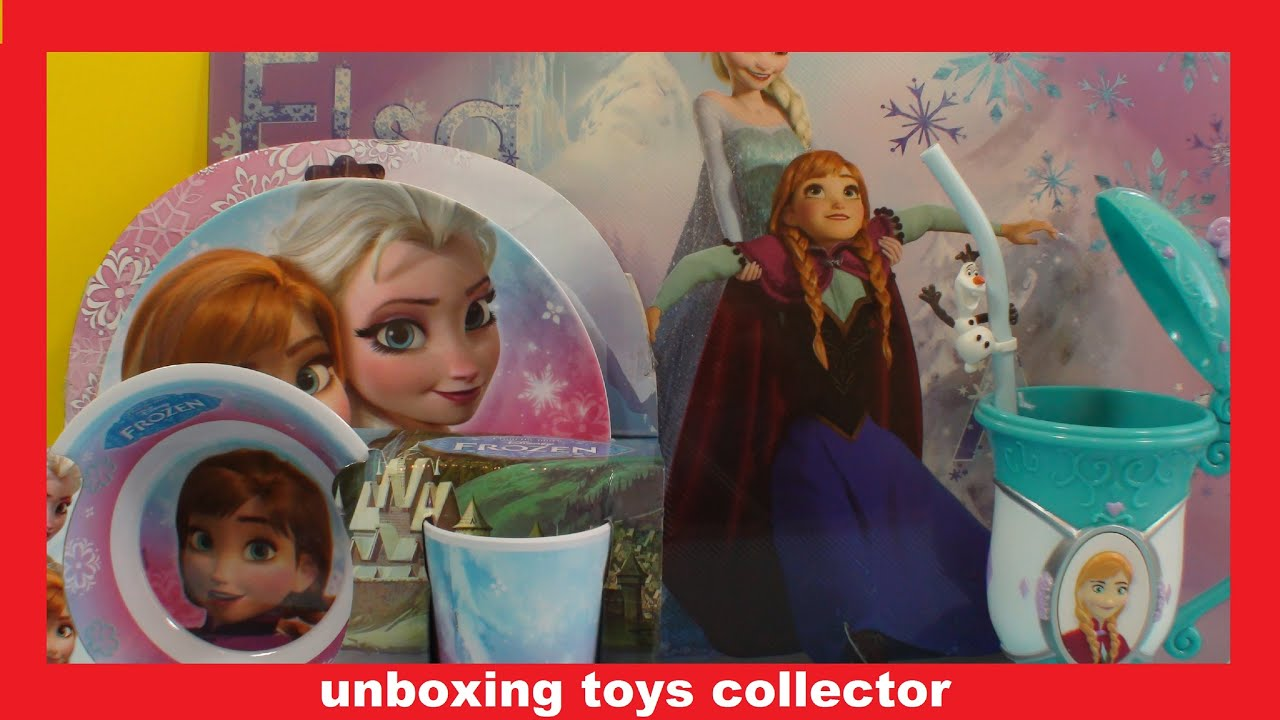 Disney Frozen Dinnerware Set Review + Gift from Disney on Ice Show. Conjunto de Louça da Disney  sc 1 st  YouTube & Disney Frozen Dinnerware Set Review + Gift from Disney on Ice Show ...