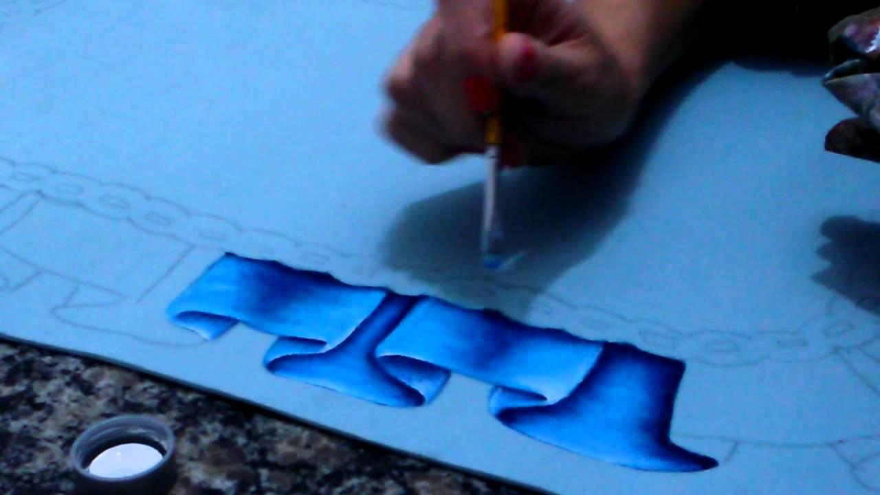 Pintura em emborrachado youtube - Pintura de pared ...