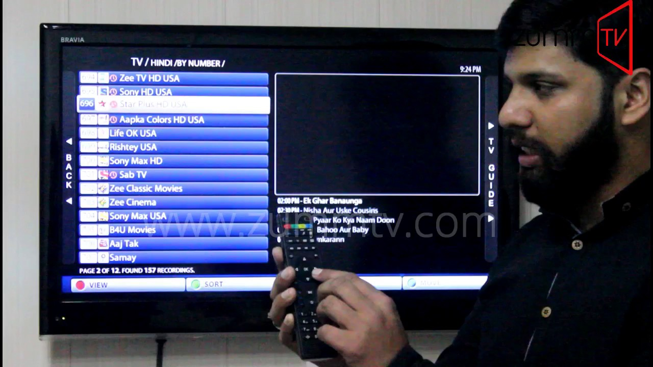 Catch up and TV guide Z 254 ZummTV by UV CONN