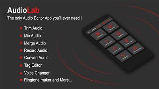 AudioLab - Best Audio Editor Mp3 Cutter Mix Merge Convert Extract Recorder Tag Edit & Ringtone Maker