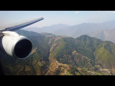 Nepal Airlines B757-200 Approach, Landing & Disembarking at