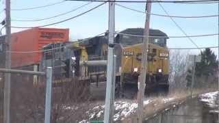 CSX Intermodal Train on Elevated Tracks
