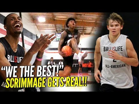 BIL All American Scrimmage GOT REAL!! Mac McClung, Kevin Porter, Nas & Naz & More!! SO MANY BATTLES!
