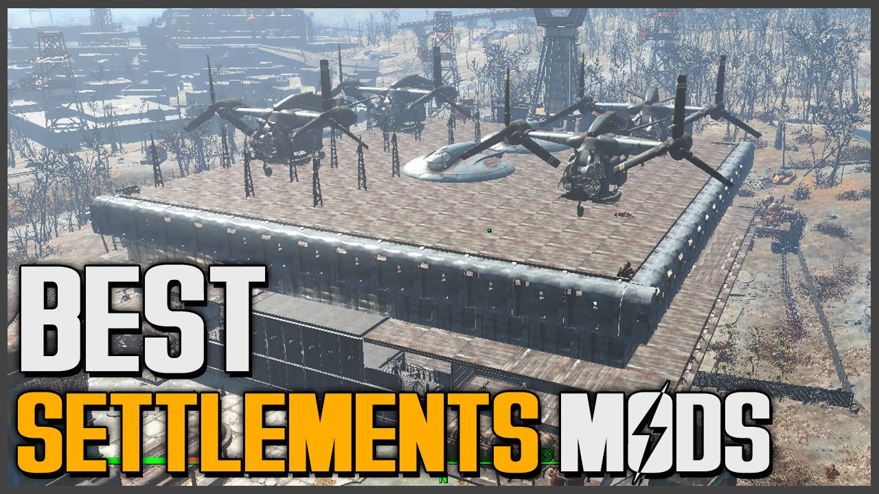 Fallout 4: 1st Settlement Mods (Settlement Expansions!!!!) [PC ONLY]