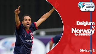 Belgium vs Norway - Norway Innings - Pepsi ICC Europe Division 2