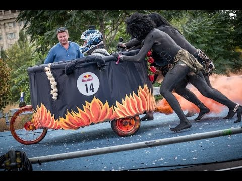 Red Bull Soapbox  Aborigines vegetarian Car 2014 - BUCHAREST (bucuresti) -  ROMANIA