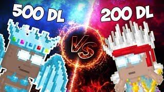 Growtopia | 500 DL VS 200 DL SET CHALLENGE! (OMG)