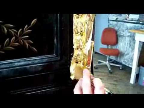 Gold Leafing at Karges Furniture Co