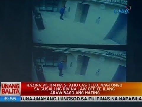 UB: Hazing victim na si Atio, nagtungo sa gusali ng Divina Law office ilang araw bago ang hazing