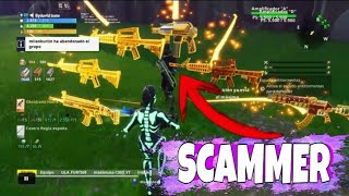 I scame a scamer with an impressive broken arm FORTNITE SAVE THE WORLD!