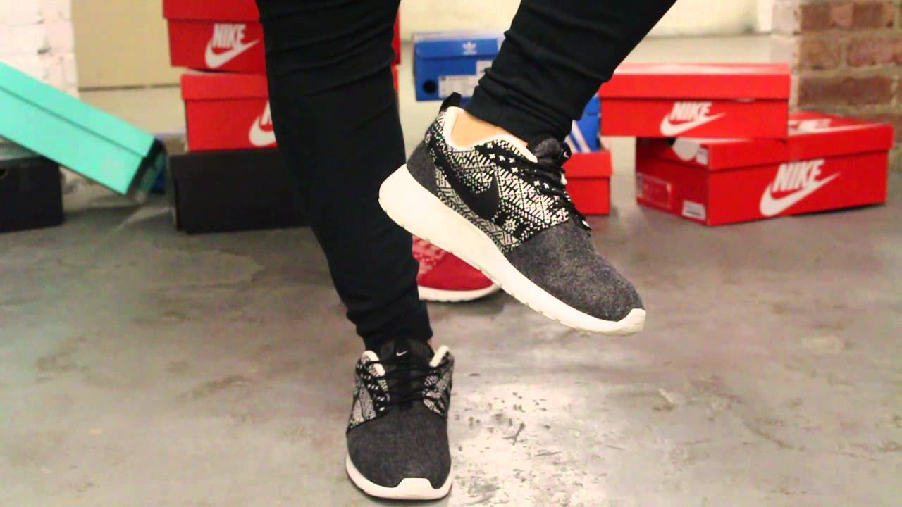9159fab0427fb Women s Nike Rosherun Winter Black - White On-feet Video at Exclucity -  YouTube