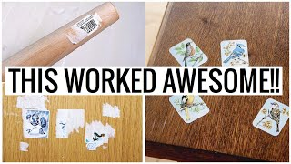 Goo Gone vs WD 40 Adhesive Sticker Remover!!!  (How to Remove Stickers From Wood)