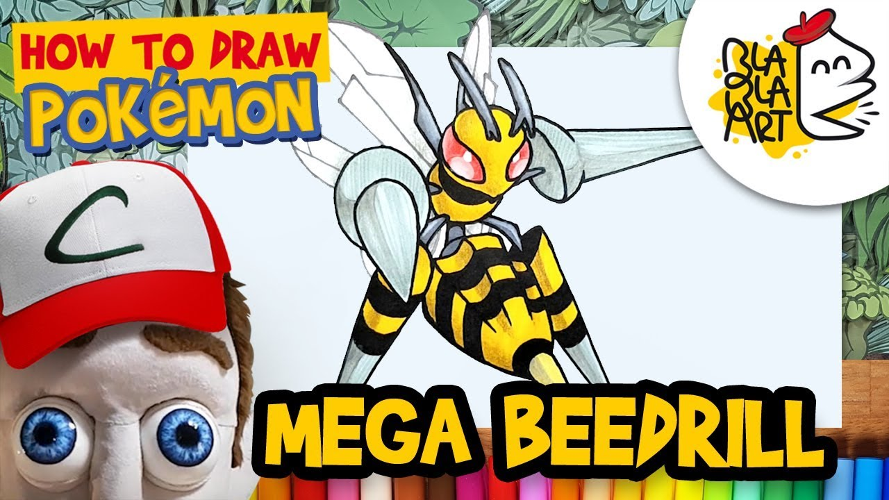 HOW TO DRAW MEGA BEEDRILL | Pokémon Drawing and Coloring ...