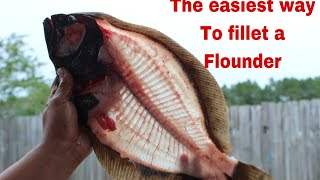 The EASIEST way to fillet a flounder (fillets/cheek meat)