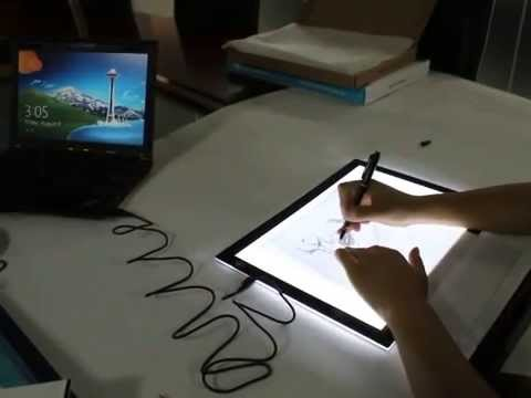 Huion Super-thin USB LED Light Box - L4S Unboxing, and how to use