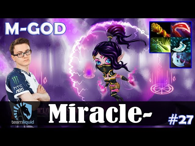Miracle - Templar Assassin MID | M-GOD 7.19 Update Patch | Dota 2 Pro MMR Gameplay #27