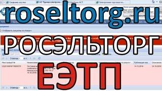 Торги на майданчику Росэлторг (roseltorg, росэльторг,ЕЕТП)