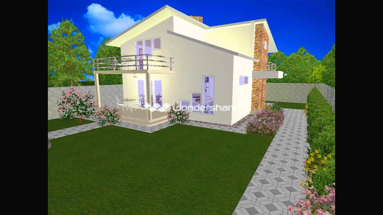 Shtepi banimi me galeri p 1 youtube for Broderbund 3d home landscape design