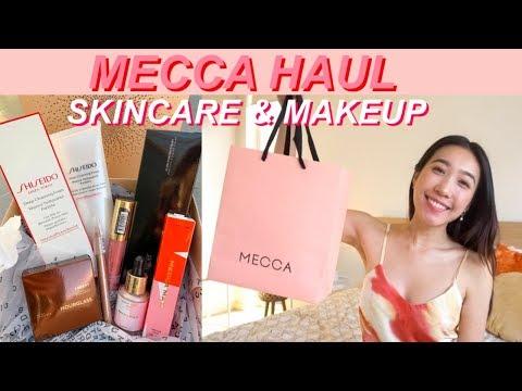 MECCA HAUL & GIVEAWAY | Skincare & Makeup Haul | Shiseido | Jenny Zhou 周杰妮