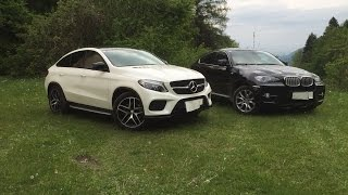 Mercedes GLE Coupe 350d vs BMW X6 xDrive40d E71 Comparison & Walkaround