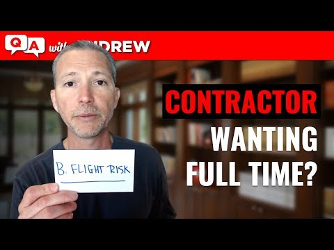 Contractor or Self-Employed Looking For Full-Time Employment?