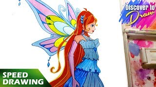 How to draw Bloom Enchantix from winx club #Speed drawing