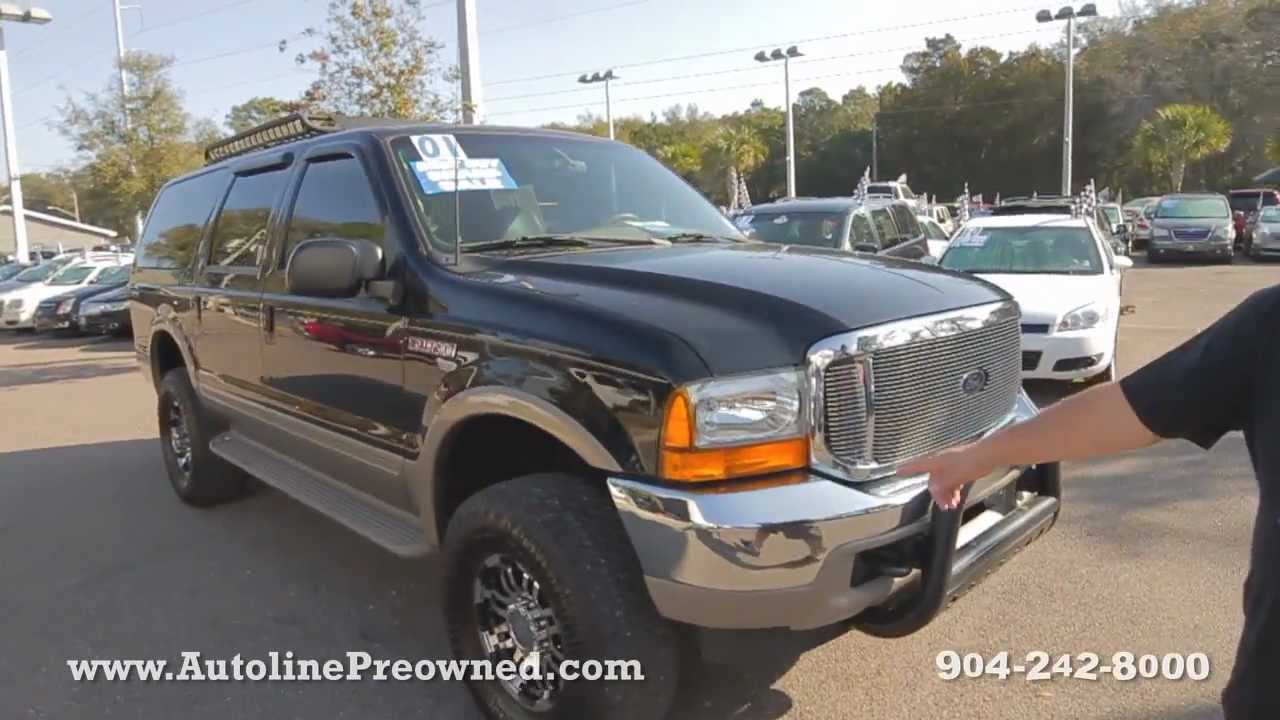 Autolines 2001 ford excursion limited walk around review test drive
