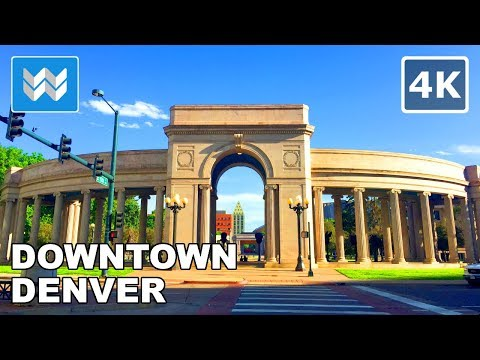 Walking tour of 16th Street Mall in Downtown Denver, Colorado 【4K】